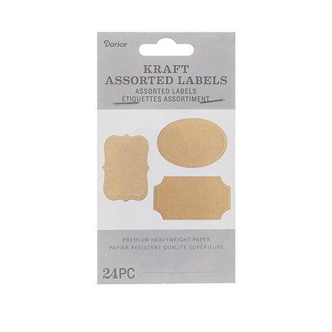 Kraft DIY Blank Tag Labels
