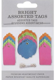 DIY Bright Colored Tag Assortment with grommets and string
