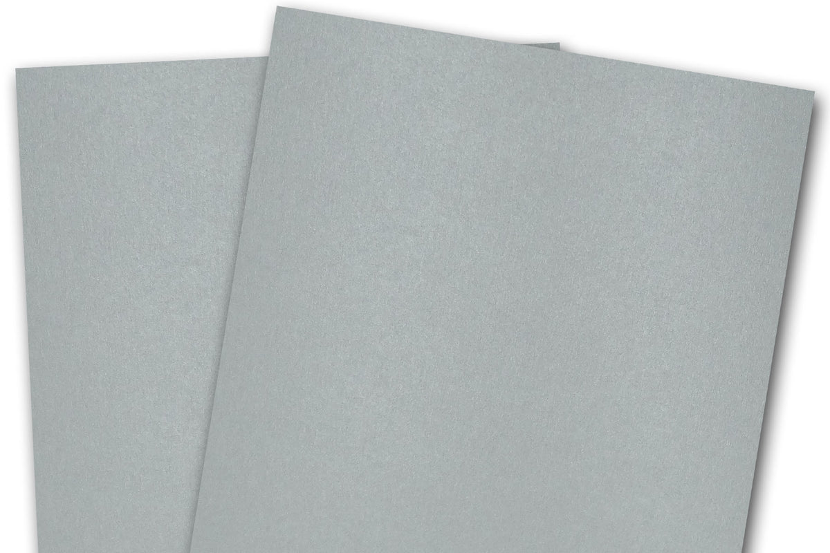 Blank Metallic A7 Discount Card Stock - Silver