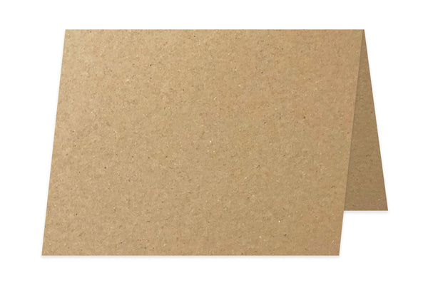 Recycled Kraft 80 lb 5x7 Folded Discount Card Stock for DIY A7 Cards