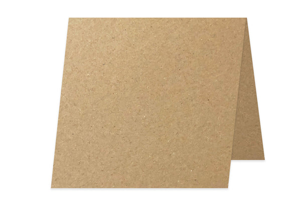 Recycled Kraft 3x3 Folded discount card stock - blank 3 inch mini cards