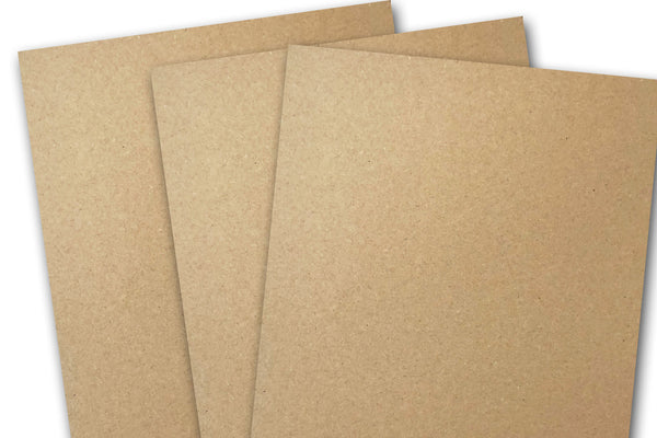 Heavy Brown Kraft Discount Card Stock