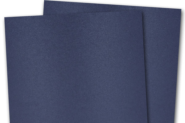 Curious Metallic Navy Card Stock