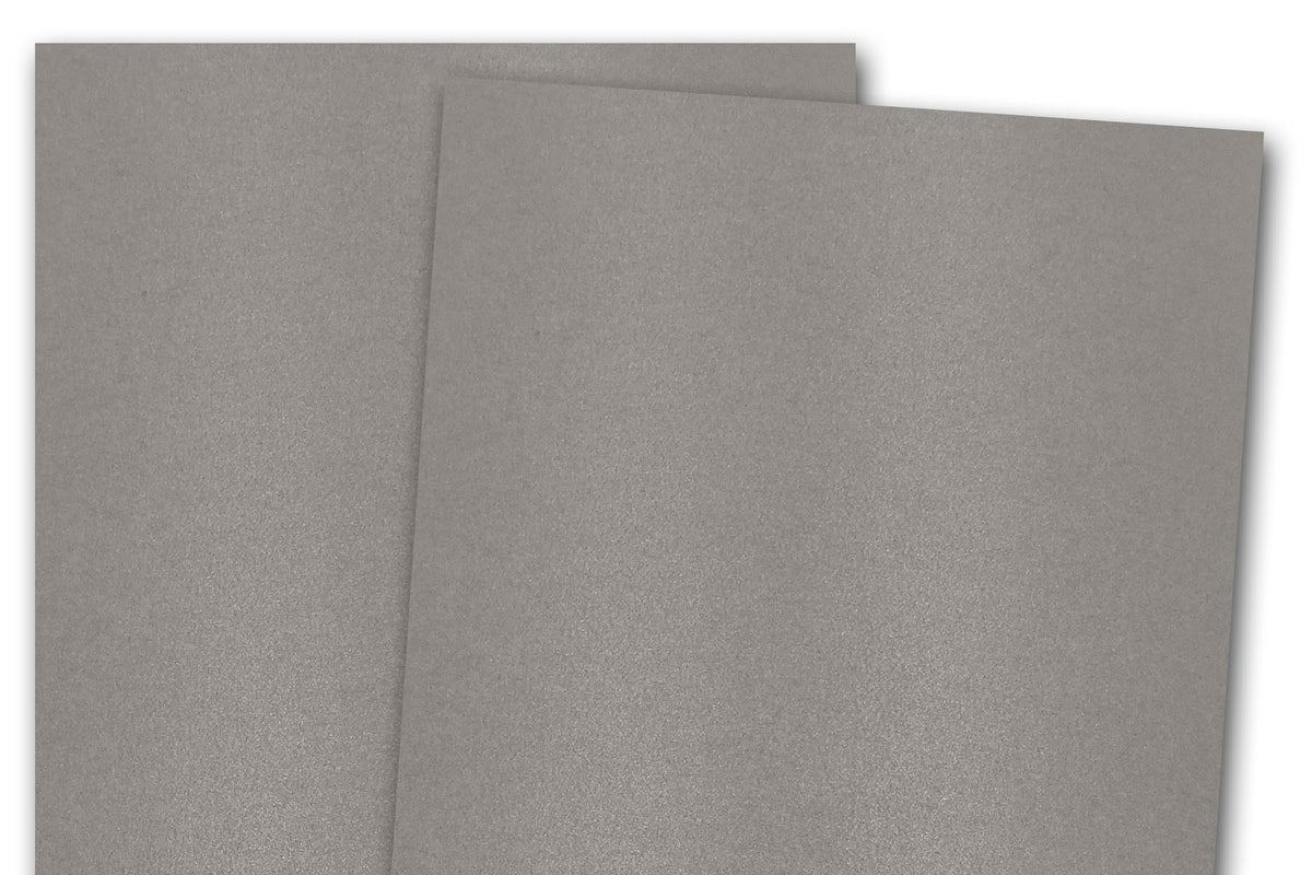 Blank Metallic A7 Discount Card Stock - Grey