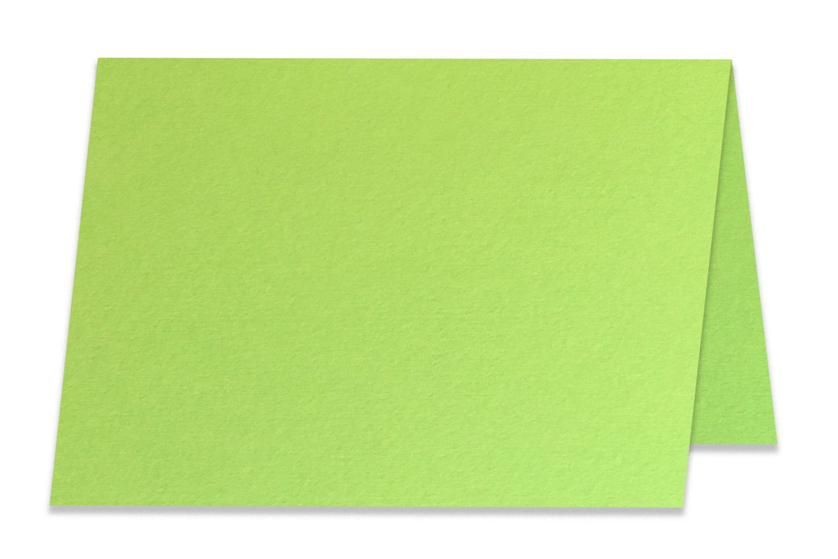 Basic Light LIme  5x7 Folded Discount Card Stock