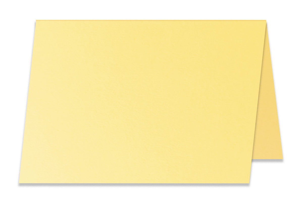 Basic Light Yellow 5x7 Folded Discount Card Stock