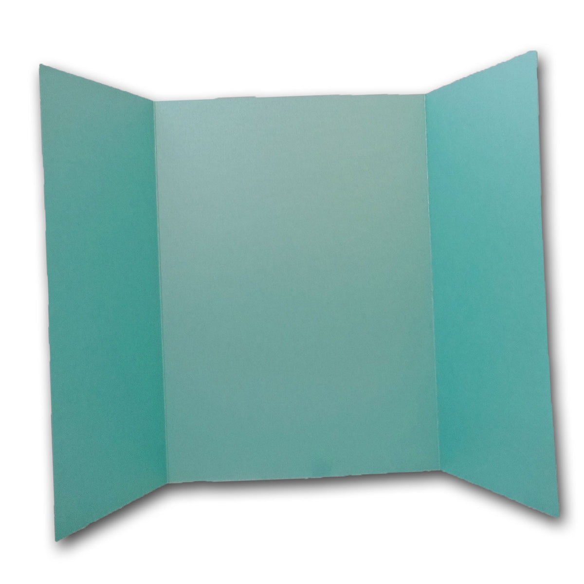 Shimmery Blue Green Aqua 5x7 Gatefold Discount Card Stock DIY Invitations