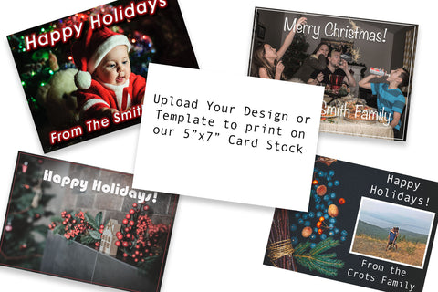 Printed 5x7 Holiday Cards