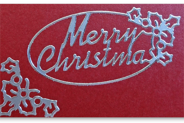 Merry Christmas Oval Outline Stickers