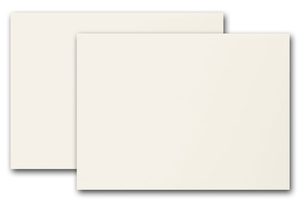 blank ivory tea length card stock