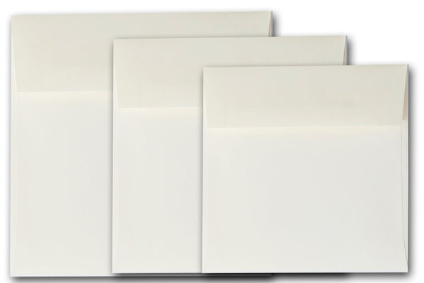 Ivory 6.5 inch square envelopes