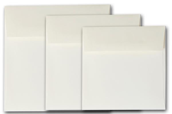 Ivory 5.5 inch square envelopes