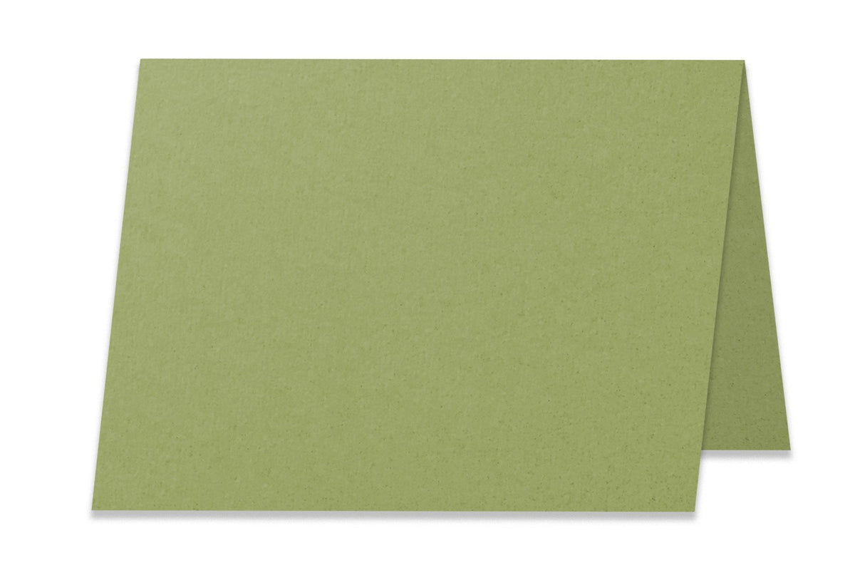 Basic Olive 5x7 Folded Discount Card Stock