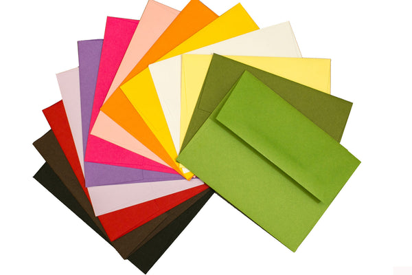 Colorful RSVP envelopes