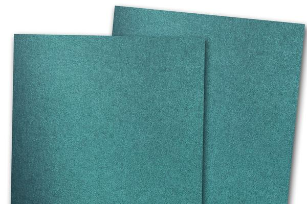 Blank Metallic A7 Discount Card Stock - Teal