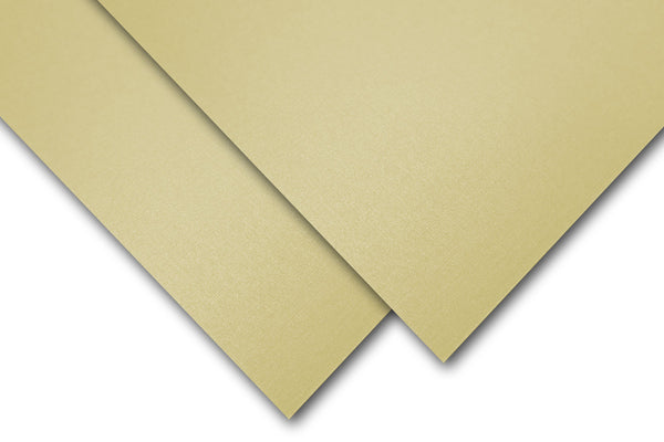 Gold Linen Pearl Card Stock