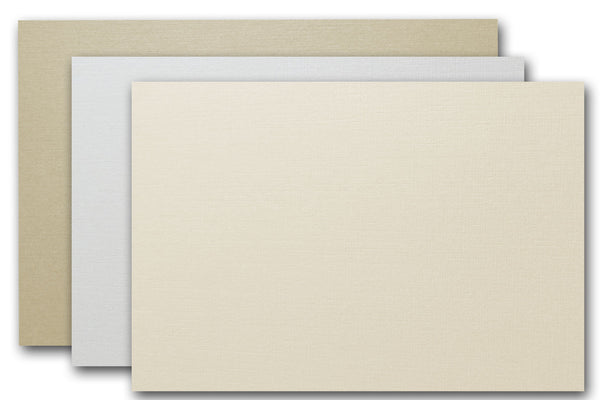 Metallic Linen A9 Card Stock