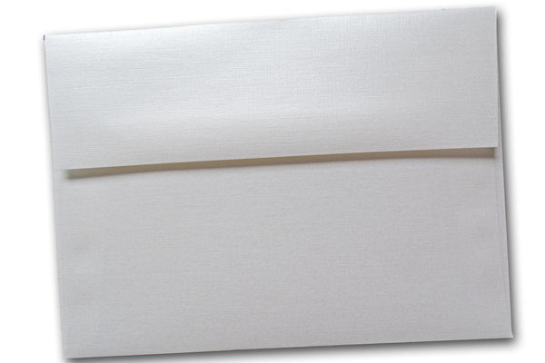 White Pearl Linen A9 Announcement Envelopes