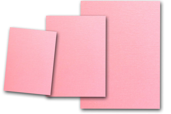Canvas Textured Pink Card Stock