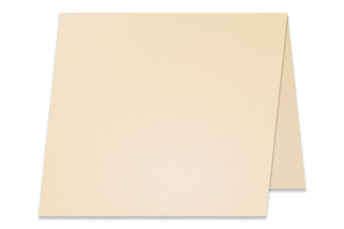 Blank Metallic 5x5 Folded Discount Card Stock - Ivory
