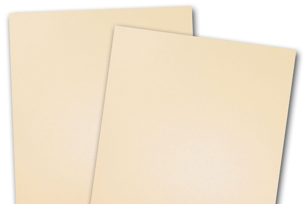 Blank Metallic A7 Discount Card Stock - Ivory