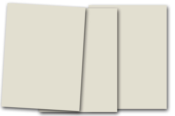 DCS Discount 8.5x11 Card Stock: Smooth Putty Off-White - 20 Sheets