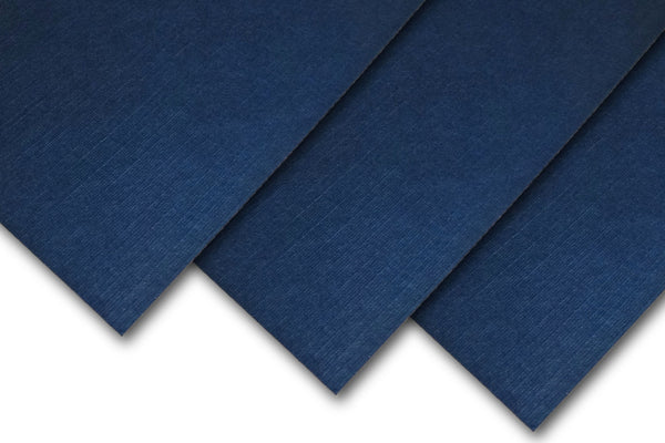Navy Linen Card Stock