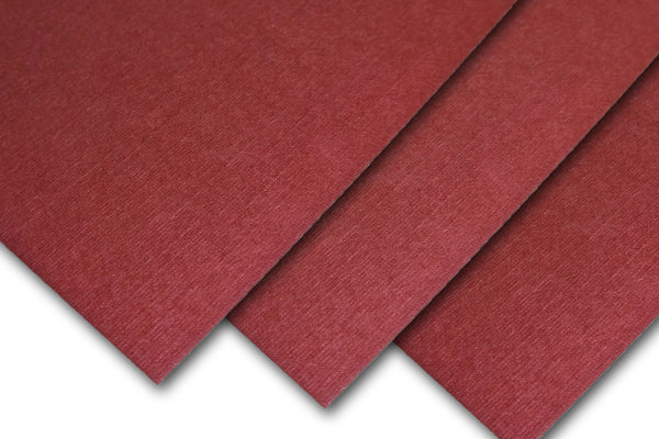 Burgundy Linen Card Stock