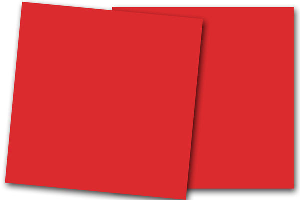 Christmas Red 12x12 Discount Card Stock