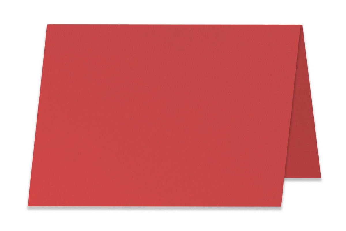 Basic red 5x7 Folded Discount Card Stock
