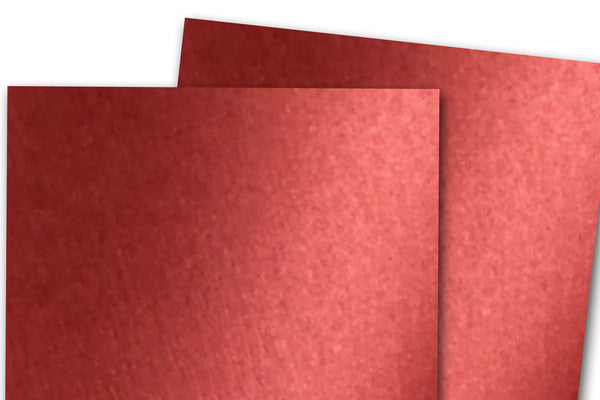 Curious Metallic Red Lacquer Discount Cardstock