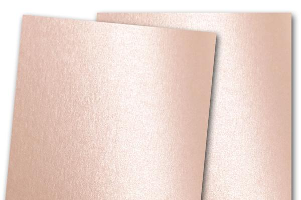 Blank Metallic A7 Discount Card Stock - Rose Gold