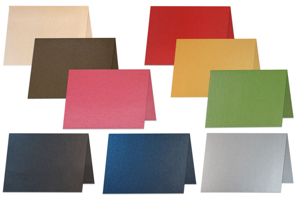Metallic A2 Folded Discount Card Stock Blank Notecards