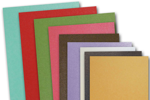 Metallic 5.5 inch square cards