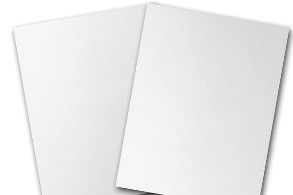 Blank Bright White Cotton 5x7 Precut Discount CardStock