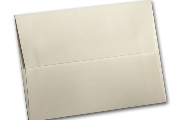 Natural White Cotton A7 Envelopes for Fine Stationery 5x7 Invitations