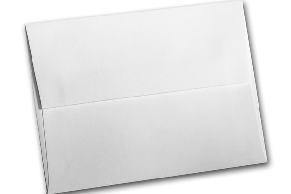 White Cotton A2 Notecard Envelopes for letterpress printing