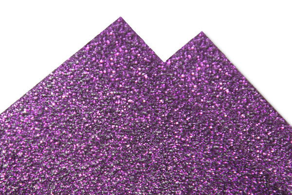 Purple Glitter Discount Card Stock