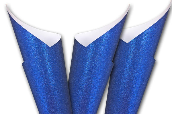 Royal blue Glitter Card Stock