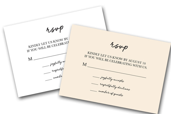 rsvp cards customizable and printed by cutcardstock