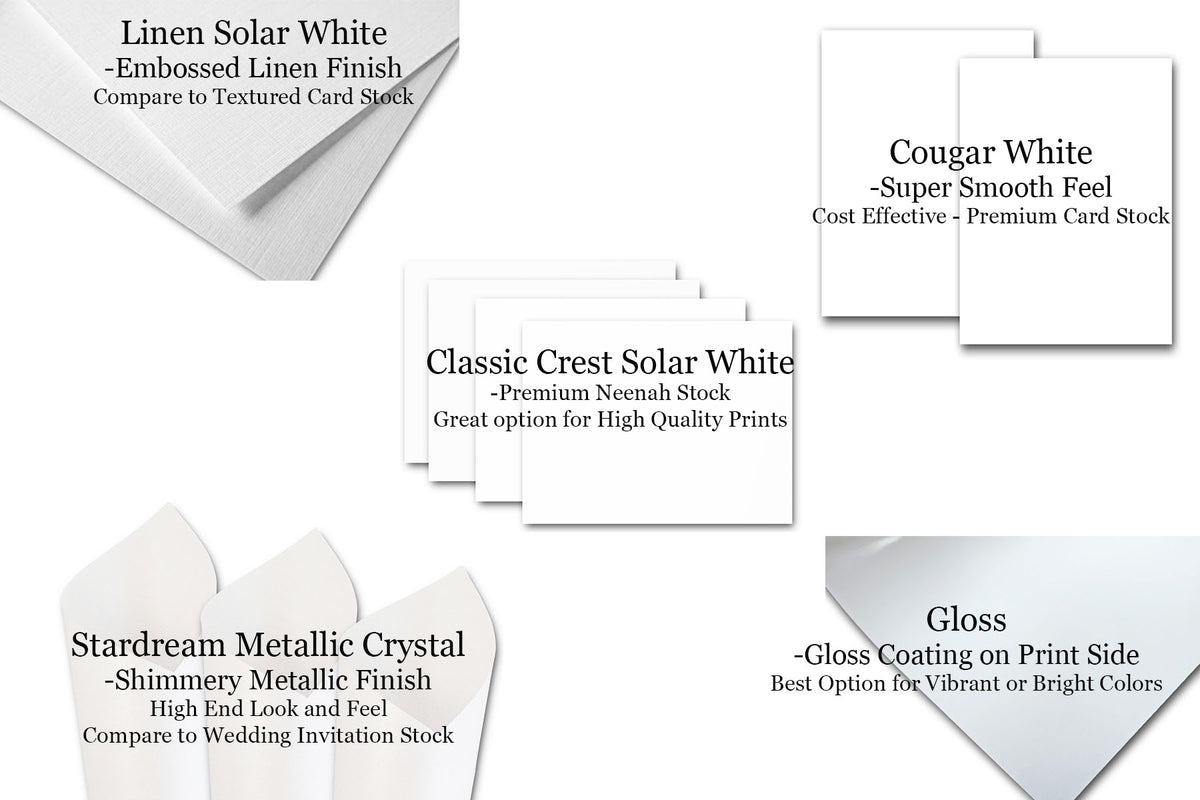 Upload and Print custom 4x6 discount card stock on white cardstock