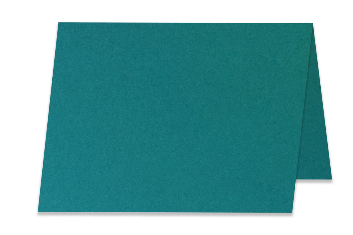 Basic teal 5x7 Folded Discount Card Stock