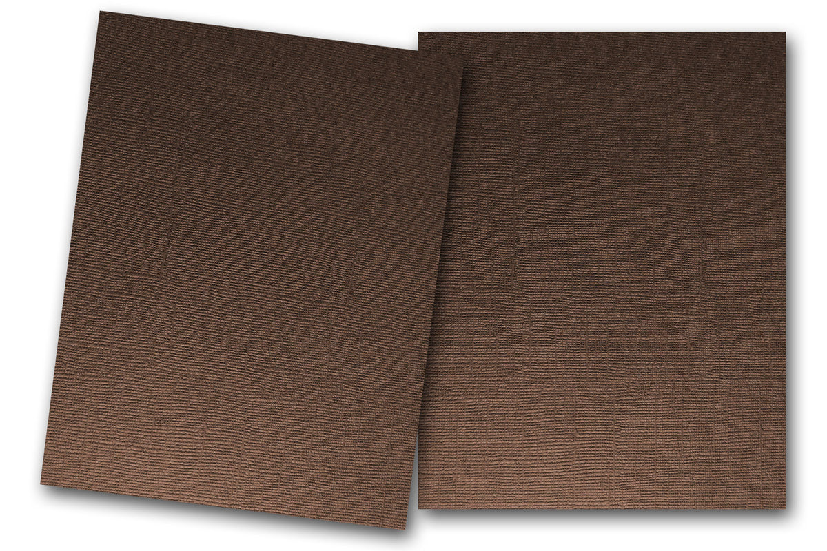 Brown Textured Martha Stewart Vanilla Bean Card Stock paper