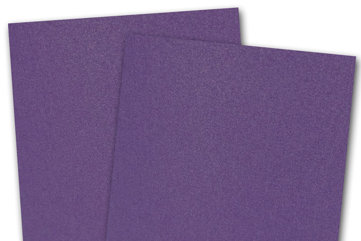 Blank Metallic A7 Discount Card Stock - Purple