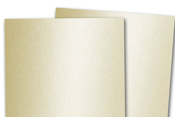 Curious Metallic White Gold Ivory Card Stock