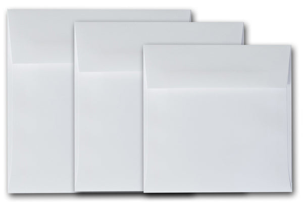 Premium White 6.5x6.5 inch square envelopes