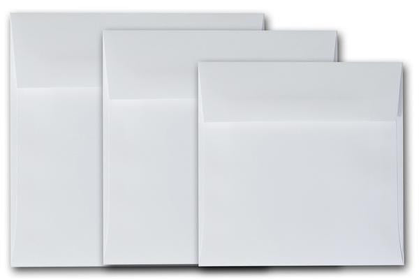 White 5.5 inch square Envelopes