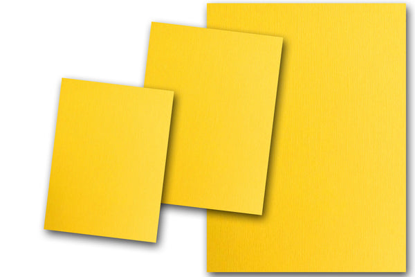 Yellow Discount Card Stock