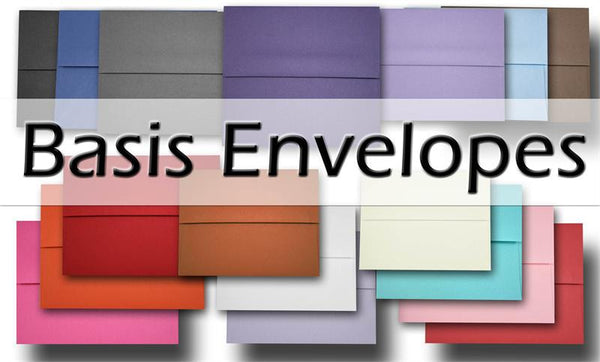 Basis Envelopes for colored envelope mailings – CutCardStock