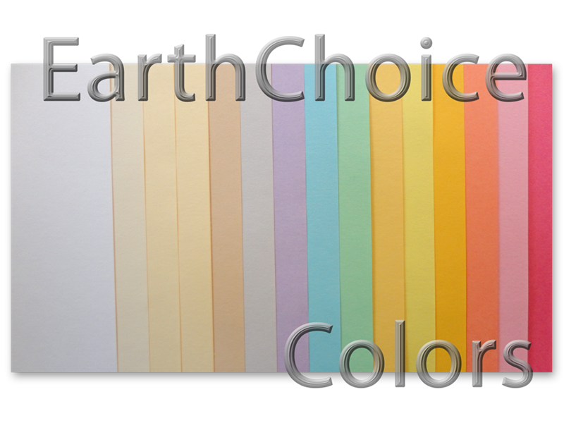 EarthChoice Index Card Stock for brochures, flyers and post cards ...
